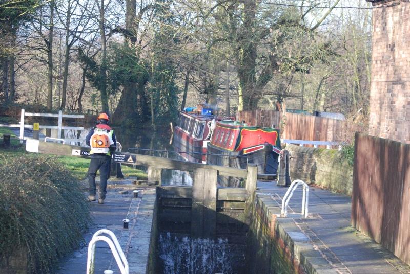 Osberton Lock, Pebley & Satyr moored.
