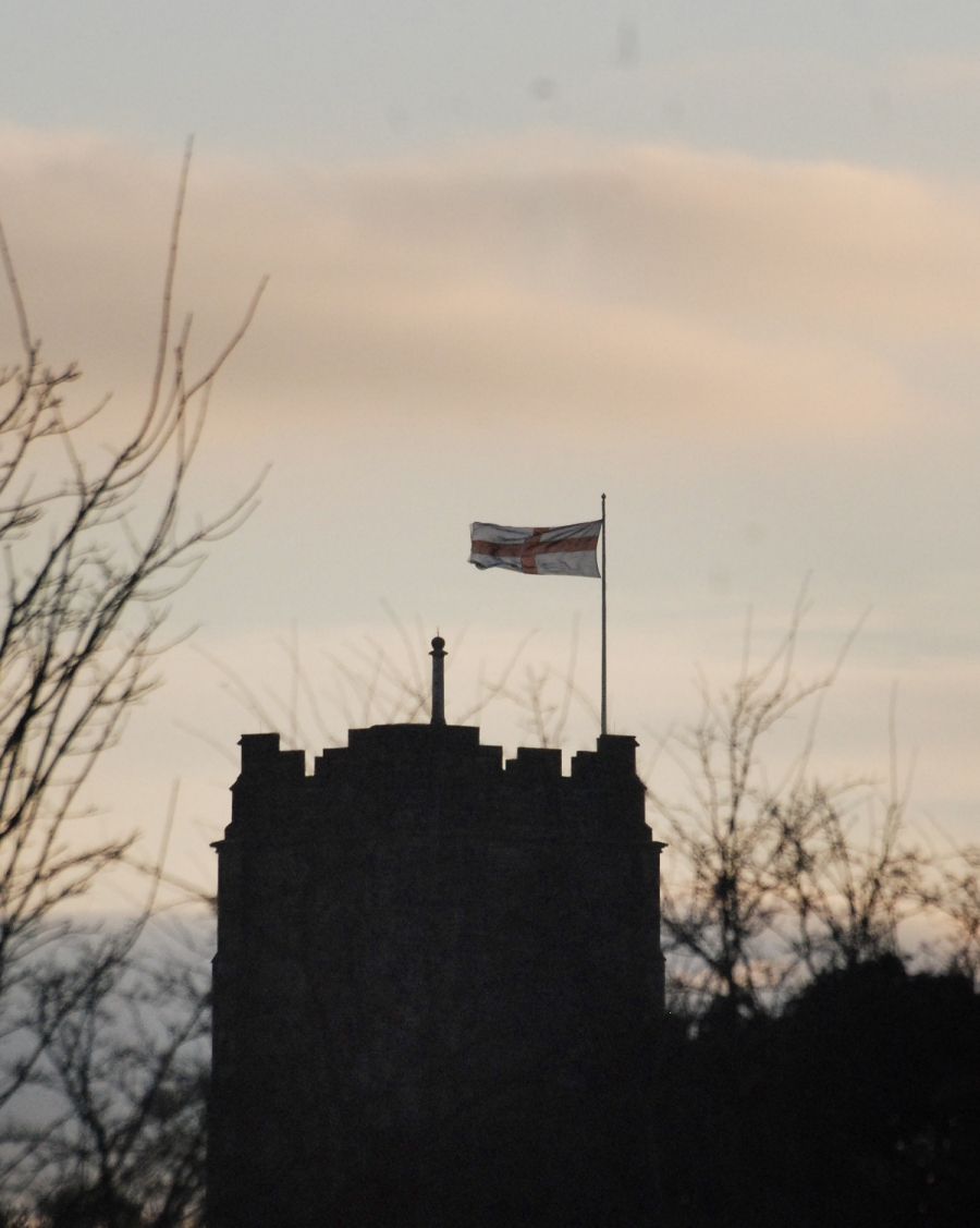 Again it's St George's flag over St Anne's.