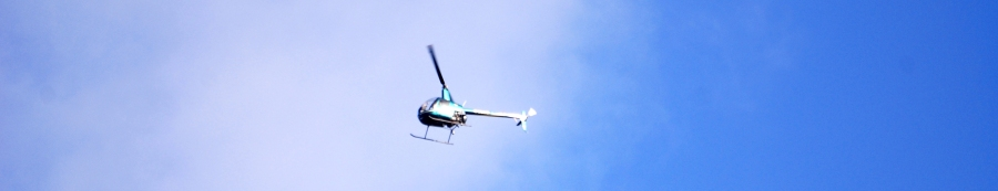 This chopper looked like a gigantic bluebottle