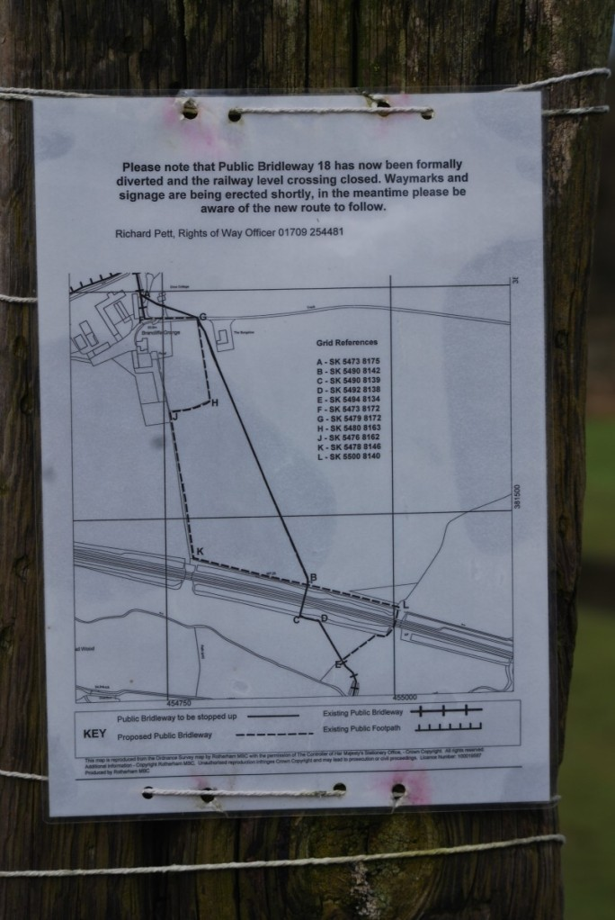 Footpath notice