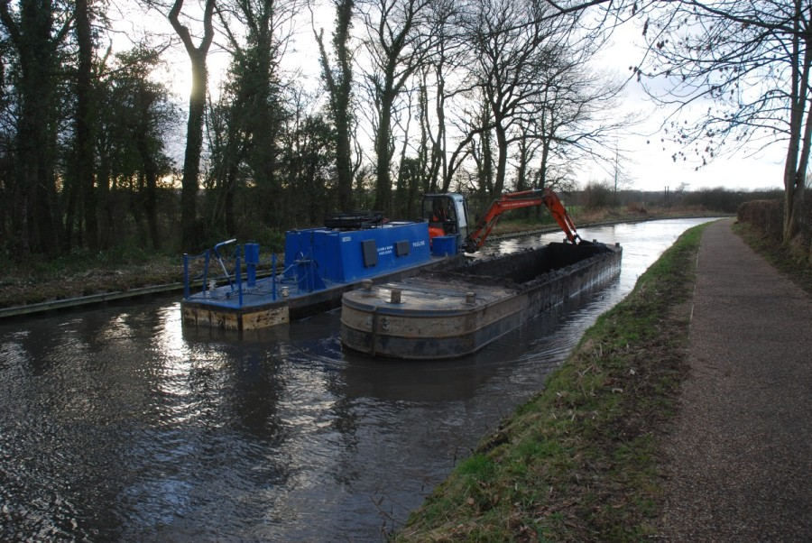 Dredging in progress