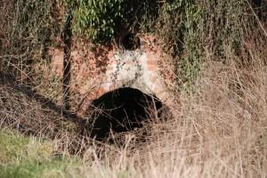 Feeder tunnel under railway
