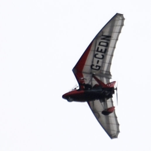 Paraglider thing Quite often one of these overhead - out of Netherthorpe - more guts than me!
