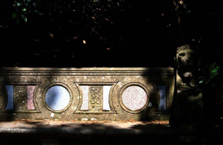 Lion bench as seen