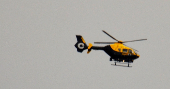 Coper chopper flew over and didn't circle Worksop