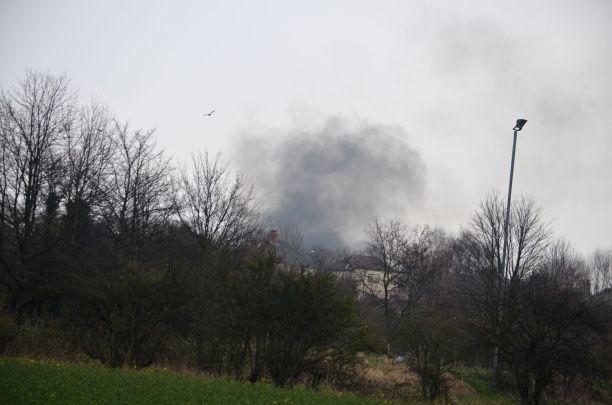 Mystery smoke plume