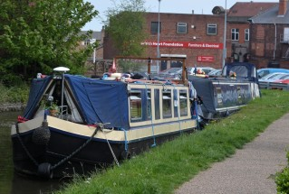 Narrowboats Emily and Out of the Blue