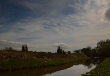 Sky over the canal
