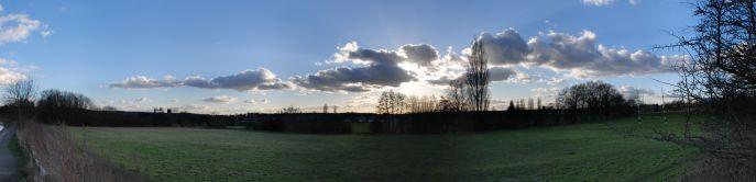 Sun - cloud panorama