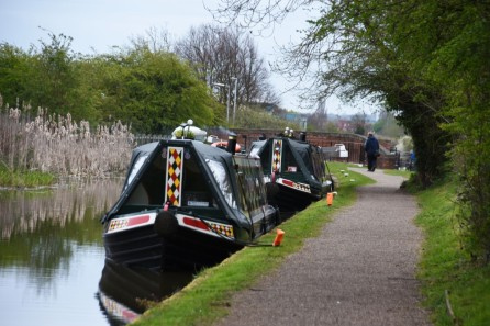 Narrowboats Huffler and Charlotte
