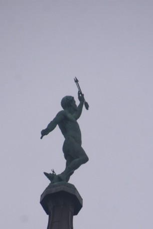 Statue of Vulcan atop the Town Hall